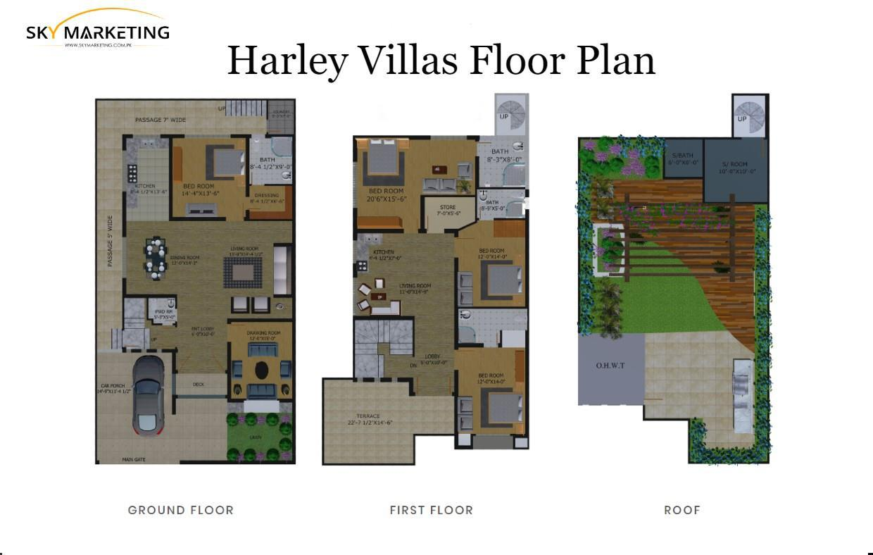 Harley Villas Floor Plans