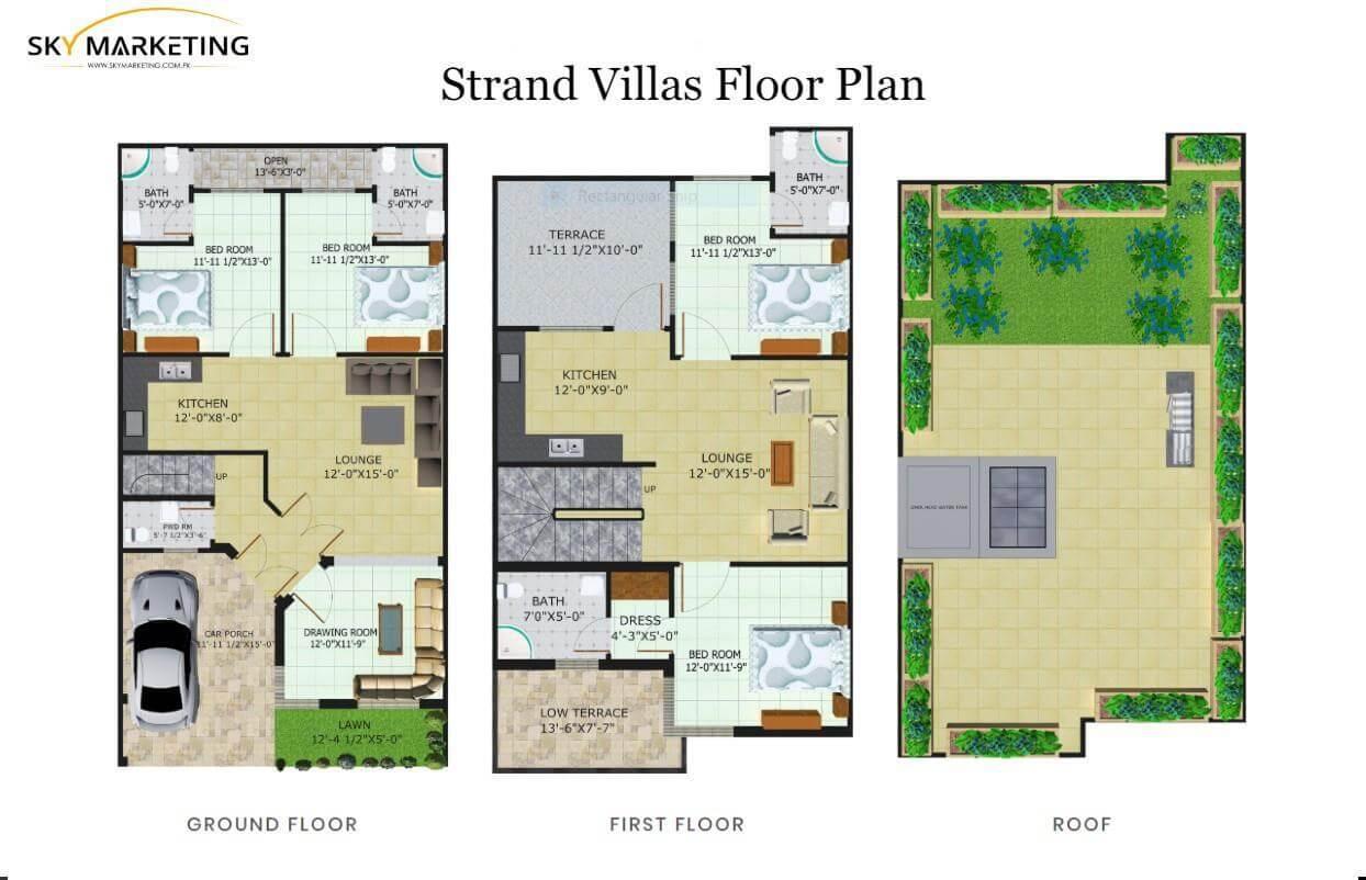 Strand Villas Floor Plan