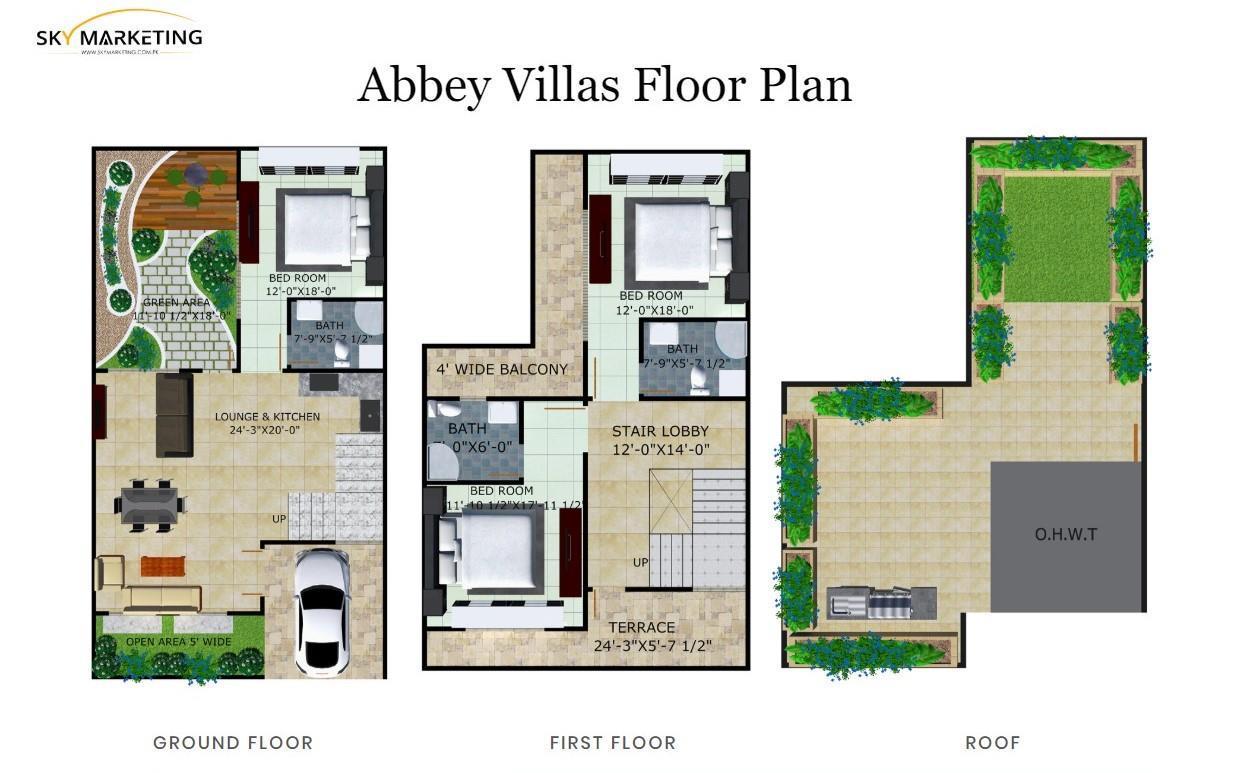 abbey villas floor plan