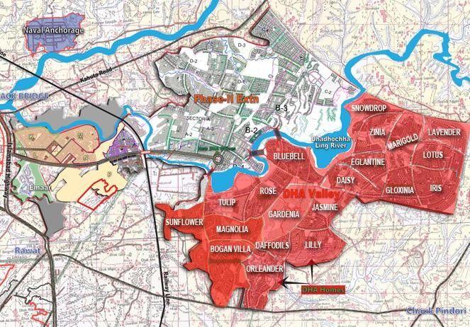 DHA Islamabad Location Map