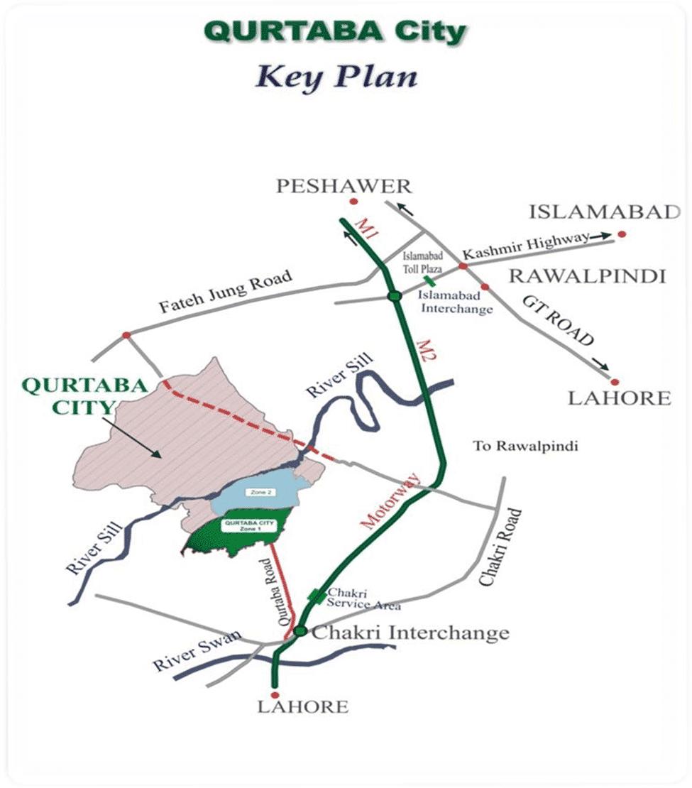 Qurtaba City Map