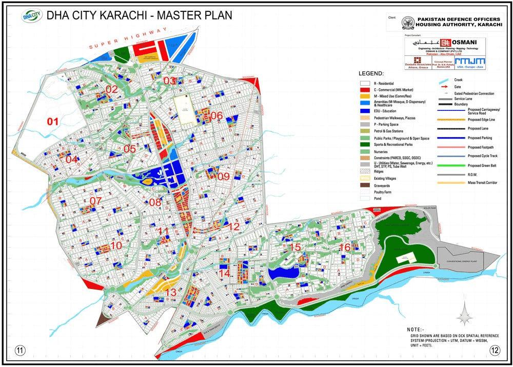 DHA karachi map