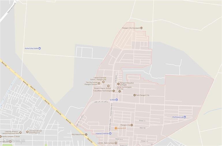DHA PESHAWAR MAP AREA