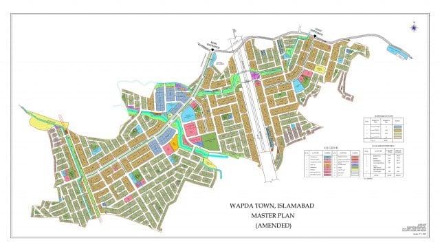 WapdaTown Islamabad Location Map