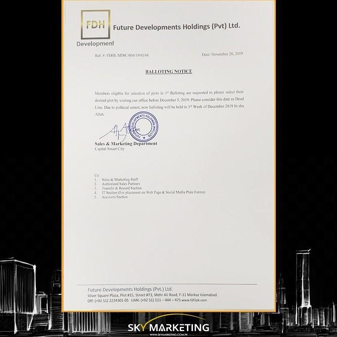 Capital smart city Balloting