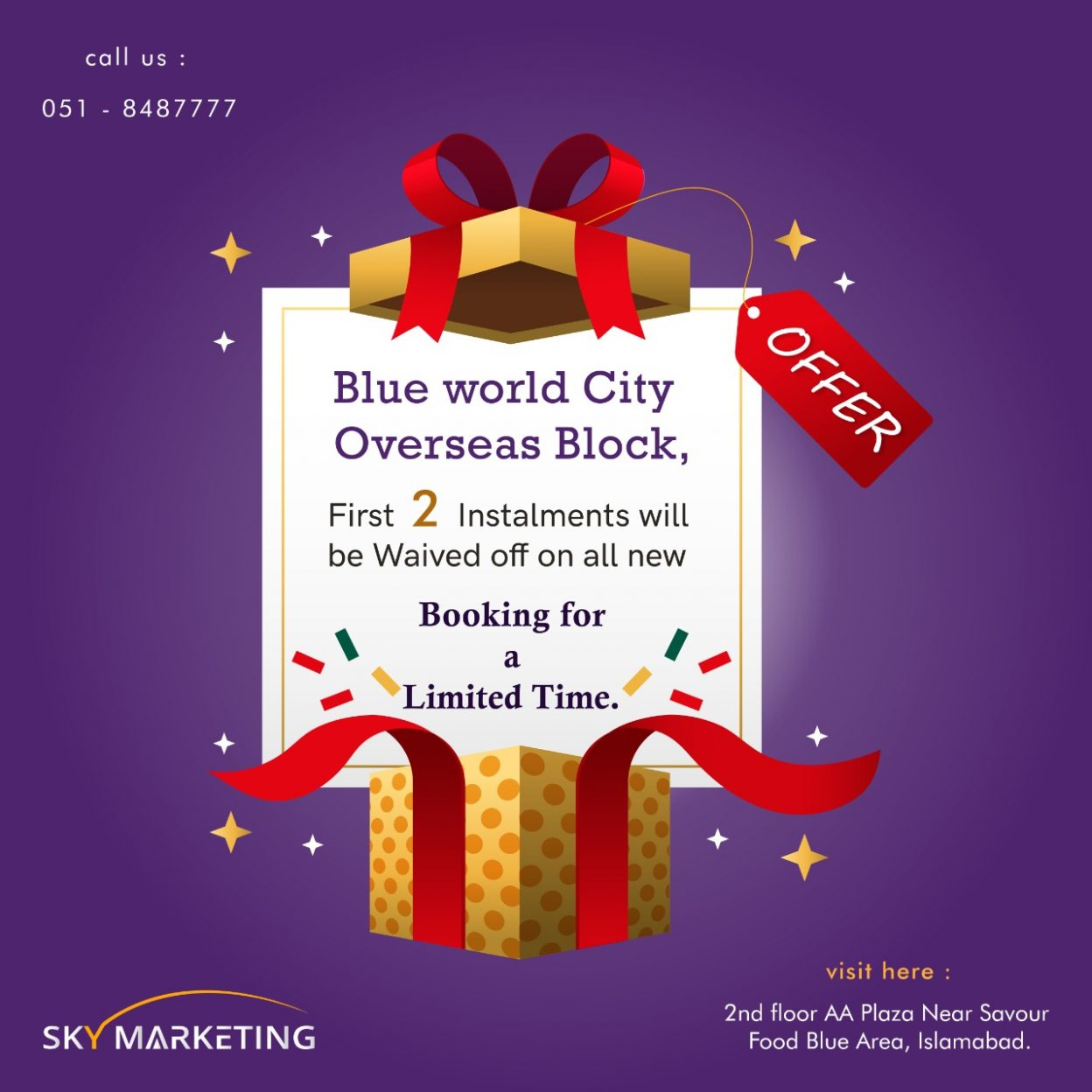 Discount offered by Blue World City