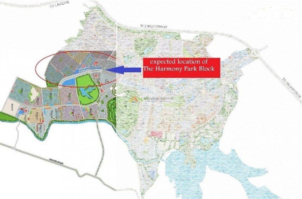 Location of The Harmony Park block