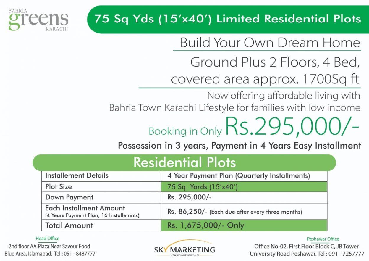 Bahria Greens Karachi Payment Plan